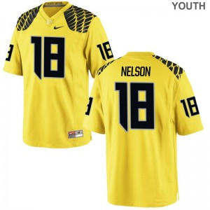 Charles Nelson University of Oregon Jersey Youth Medium Limited For Kids Gold