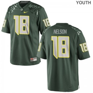 Oregon Ducks Charles Nelson Jersey Youth Small Green Kids Limited