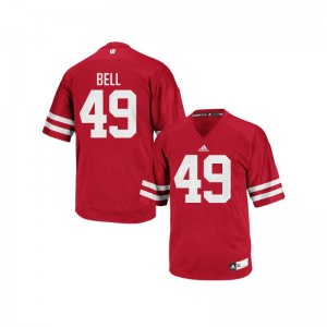 Christian Bell University of Wisconsin Jersey Authentic Red Mens