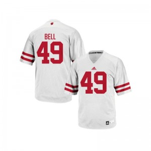 Wisconsin Badgers Christian Bell Jersey Youth Large For Kids White Authentic