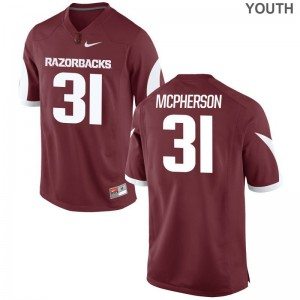 Arkansas Jerseys X Large of Connor McPherson Youth(Kids) Limited - Cardinal