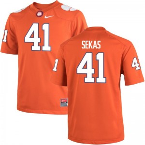 Men Connor Sekas Jersey Orange Limited CFP Champs Jersey
