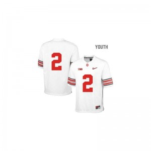 Ohio State Cris Carter Jerseys Youth Medium White Diamond Quest Patch Youth Limited