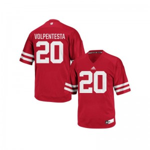Cristian Volpentesta Wisconsin Jerseys Youth Medium Authentic Youth(Kids) - Red
