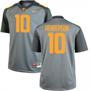 Limited Gray D.J. Henderson Jerseys Medium Mens UT