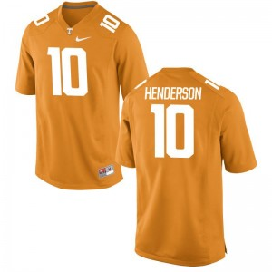 Tennessee D.J. Henderson Limited Jerseys Orange For Men