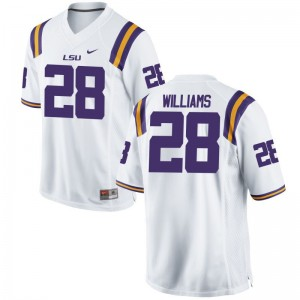 Men Limited Embroidery LSU Tigers Jersey Darrel Williams White Jersey