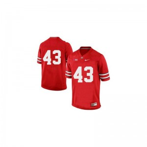 Limited Darron Lee Jerseys Ohio State Buckeyes Red Mens
