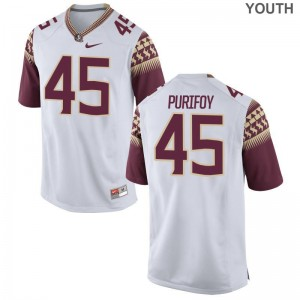 Delvin Purifoy Florida State Seminoles Kids Jerseys White Official Limited Jerseys
