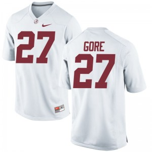 Derrick Gore Jersey Youth XL University of Alabama Limited For Kids - White