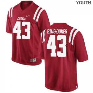 Detric Bing-Dukes Kids Jersey Small Ole Miss Limited - Red