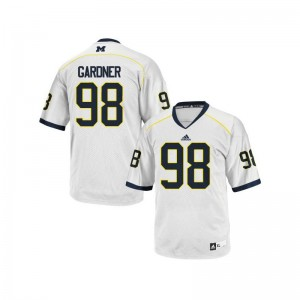 Devin Gardner For Men Jerseys XL Wolverines Limited - White