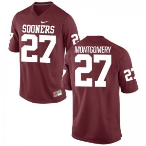 Devin Montgomery Oklahoma Jerseys Men Small Limited Crimson For Men