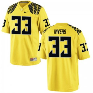 Dexter Myers Ducks Jerseys Youth X Large Limited Youth Gold