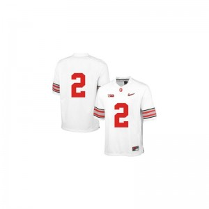 Limited White Diamond Quest Patch Dontre Wilson Jerseys Youth Medium Kids OSU Buckeyes