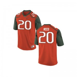 Mens Large Miami Hurricanes Ed Reed Jersey Embroidery For Men Limited Orange_Green Jersey