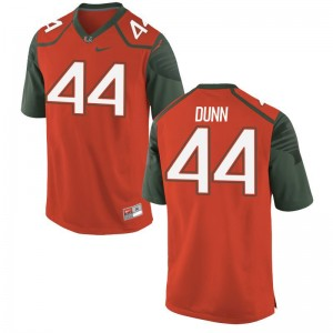 Limited Eddie Dunn Jerseys Large Miami Hurricanes Kids Orange