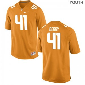 Tennessee Vols Elliott Berry Jersey S-XL Youth(Kids) Limited Jersey S-XL - Orange