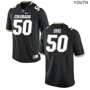 Frank Umu University of Colorado Jerseys Medium Black For Kids Limited