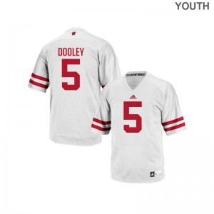 Garret Dooley Youth(Kids) Jersey Youth Large University of Wisconsin Authentic - White
