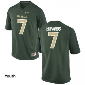 Gus Edwards Miami Jerseys Youth Large Limited Green Kids
