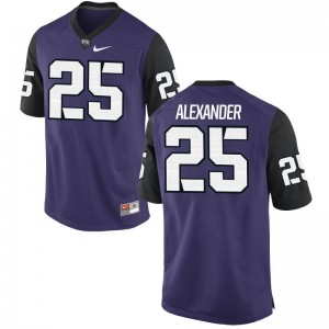 Isaiah Alexander Men Jerseys Men Medium Limited Horned Frogs Purple Black