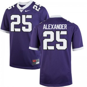 Isaiah Alexander Mens Jerseys XXX Large Horned Frogs Limited - Purple