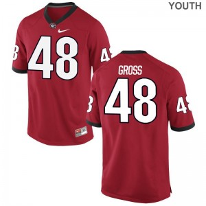 Jacob Gross Youth(Kids) Jerseys Youth XL Georgia Red Limited