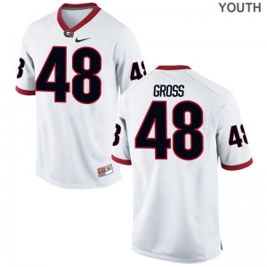 For Kids Jacob Gross Jerseys White Limited UGA Bulldogs Jerseys