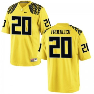 Jake Froehlich Oregon Ducks Jersey Gold For Men Limited