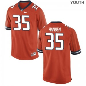 Jake Hansen For Kids Jerseys Large Illinois Fighting Illini Limited Orange
