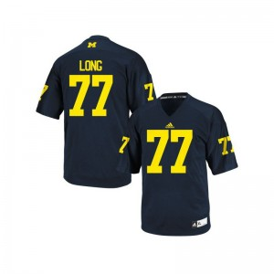 Wolverines Jake Long Jersey College Mens Limited Navy Blue Jersey