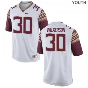 Florida State Limited White Youth(Kids) Jalen Wilkerson Jersey Large