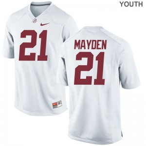 Jared Mayden Youth(Kids) Alabama Jersey White Limited Jersey