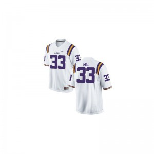 Tigers University Jeremy Hill Limited Jersey White For Men