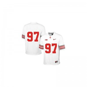 Men Joey Bosa Jerseys OSU Buckeyes Limited - White Diamond Quest Patch