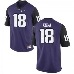 Jordan Kitna Texas Christian University Jerseys Youth Small Youth Purple Black Limited