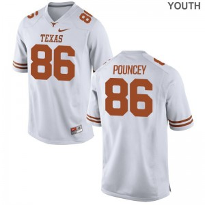 Limited Youth(Kids) Texas Longhorns Jerseys Medium Jordan Pouncey - White