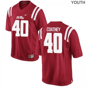Youth Limited University of Mississippi Jersey Josiah Coatney Red Jersey
