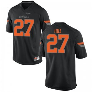 Justice Hill Youth Jerseys XL Black Oklahoma State Cowboys Limited