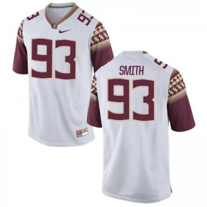 Justin Smith Limited Jersey Mens Stitch FSU Seminoles White Jersey