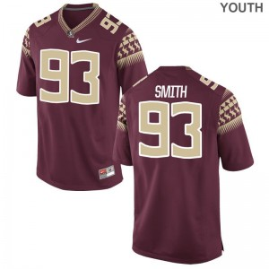 FSU Jersey Youth Large of Justin Smith Limited Kids - Garnet