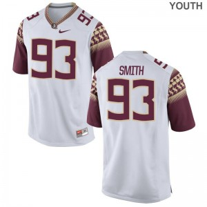 FSU Justin Smith Jerseys Youth Small White Youth Limited