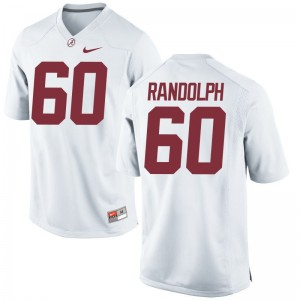 Alabama Crimson Tide Kendall Randolph Jersey XX Large For Men Limited - White