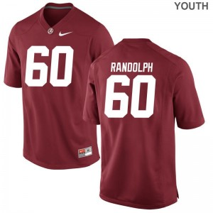 Kendall Randolph Jersey Youth Large For Kids Bama Red Limited