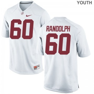 University of Alabama Kendall Randolph Jersey S-XL White Limited Youth