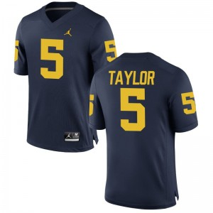 Michigan Wolverines Mens Limited Jordan Navy Kurt Taylor Jersey