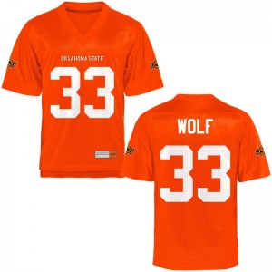 Landon Wolf Jersey Men Medium Oklahoma State Cowboys Men Limited - Orange