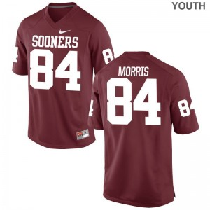 Youth(Kids) Limited OU Jersey XL of Lee Morris - Crimson