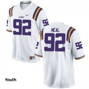 White Lewis Neal Jersey XL Louisiana State Tigers Youth Limited